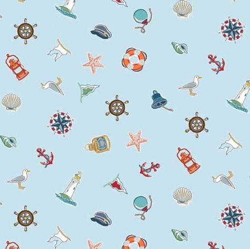 Makower Marina Scatter Fabric